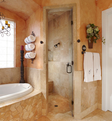 Home dzine bathrooms a tuscan bathroom Tuscan style bathroom ideas