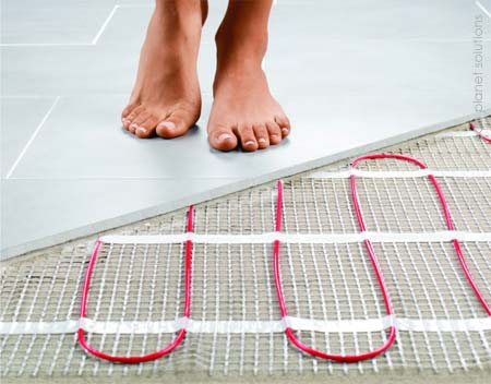 home dzine bathrooms how to install underfloor heating