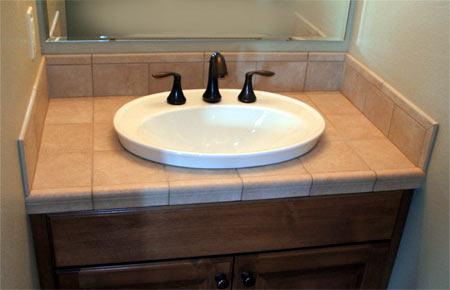 HOME DZINE Bathrooms | How to tile a bathroom vanity