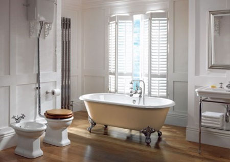 Home dzine bathrooms create a vintage or victorian - Salle de bain retro ...