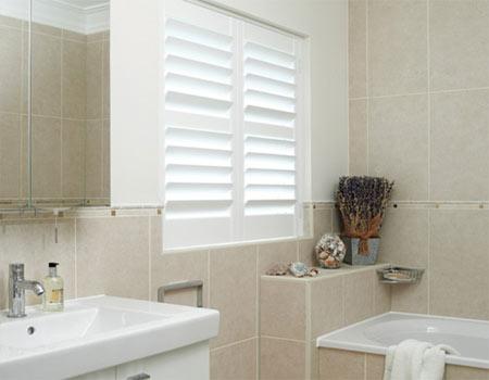 Home dzine bathrooms bathroom window dress up or leave for Builders bathroom warehouse