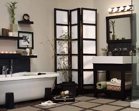 Home dzine bathrooms create a zen bathroom for Zen bathroom accessories