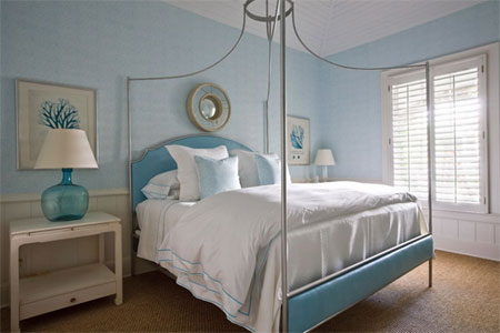 Home dzine bedrooms cool blue bedrooms for Blue beach bedroom ideas
