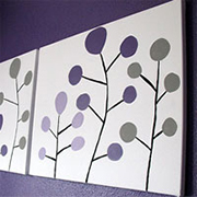 Make your own canvas wall art