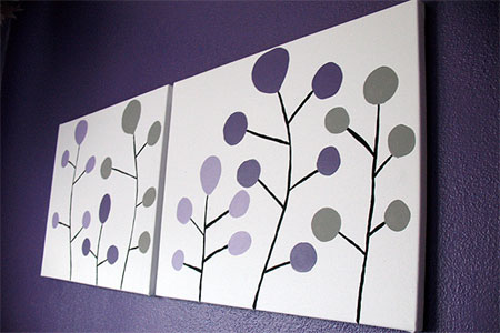 HOME DZINE Craft Ideas | Create your own canvas art