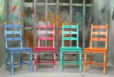 Funky Painted Chairs