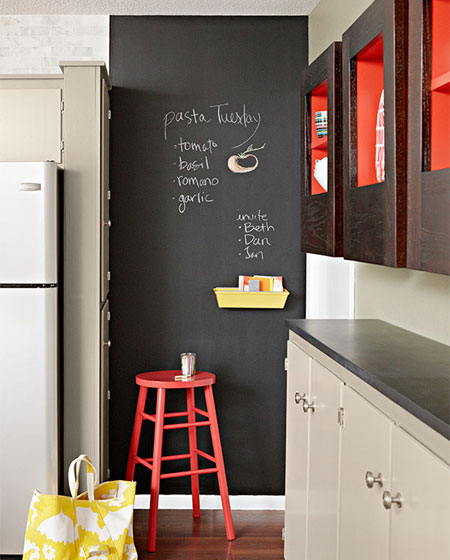 Home dzine craft ideas great chalkboard ideas - Chalk paint wall ideas ...