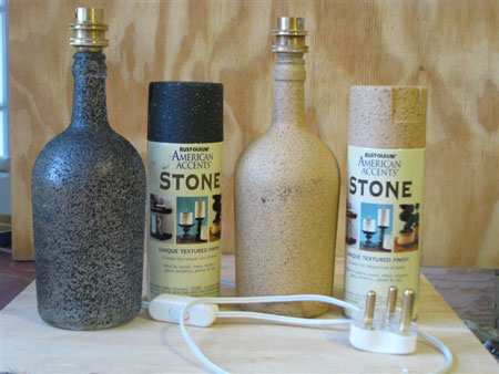 How to make a table lamp out of a wine bottle