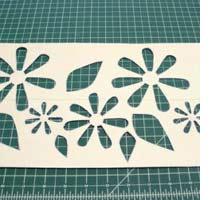 Home Dzine Craft Ideas Spray Painting A Tablecloth