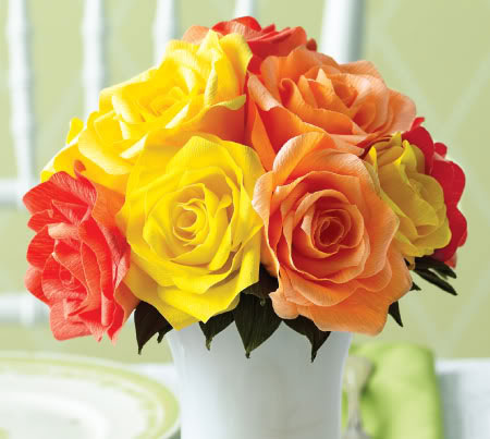 Home dzine craft ideas crepe paper roses crepe paper roses mightylinksfo