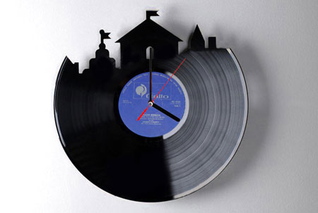 Home dzine craft ideas dremel carved clock for Things to make with old records