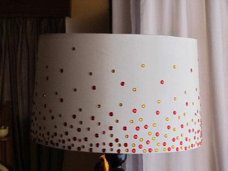 HOME DZINE Craft Ideas   Dress up a lampshade