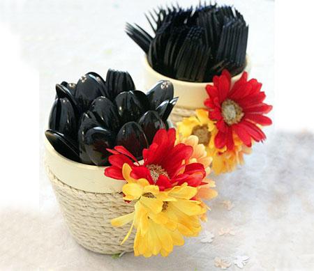Home dzine craft ideas clay pot cutlery holders clay pot cutlery holders mightylinksfo