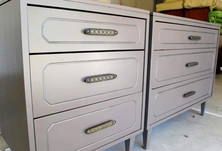 Revamping Old Furniture. Go for it! Don't be afraid to experiment with  different paint finishes.