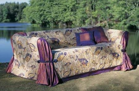 home dzine craft ideas how to make a sofa slipcover. Black Bedroom Furniture Sets. Home Design Ideas