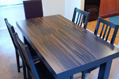 Having Previously Considered This Idea I Was So Glad To Come Across Someone Who Did Actually Make A Table From Laminate Flooring It An Easy And Affordable