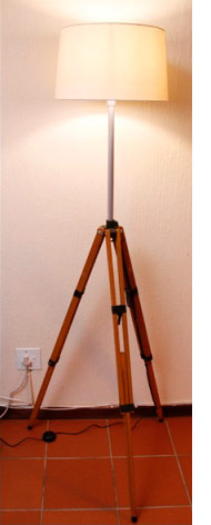 Home dzine craft ideas floor lamp made from a second hand tripod floor lamp made from a second hand tripod aloadofball Image collections