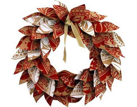 Paper Christmas Wreath Designs.Home Dzine Craft Ideas Paper Christmas Wreath