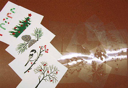 Home Dzine Craft Ideas Stencilled Christmas Or Greeting