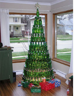Unique Ideas For A Christmas Tree Made From Recycled Materials