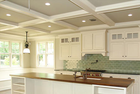 Home dzine home decor elegance with coffered ceilings Home dezine