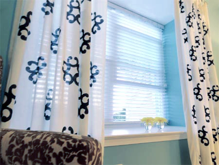 Make your own curtain fabric