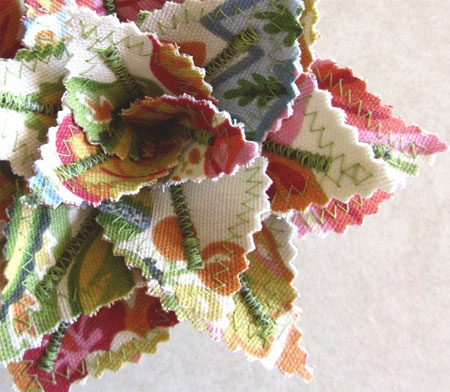 Create your own floral arrangements with fabric
