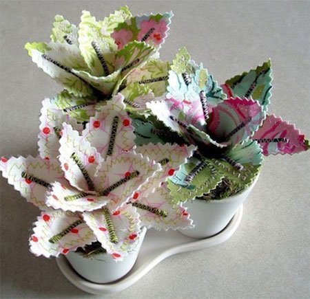 Create your own fabric floral arrangements