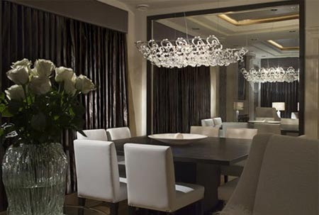 Contemporary mirrors for dining room