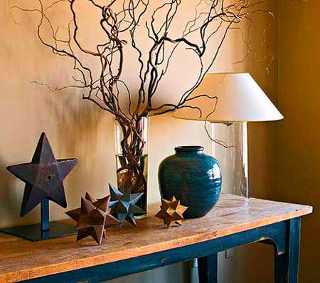 Home Decor Accessories on Above  The Sculptural Quality Of The Branches Sets Off This Starry