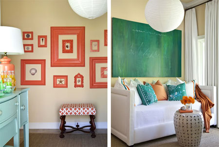 Burnt Orange And Blue Decor Home Decorating Ideas