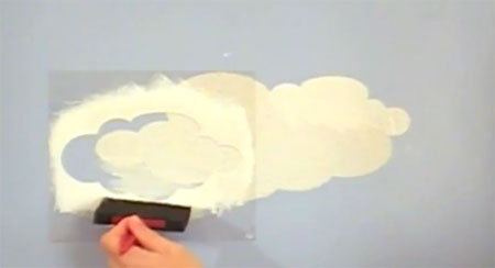 Home dzine how to paint clouds on walls or ceiling for Diy clouds ceiling