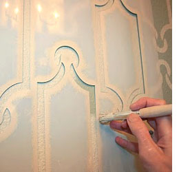 art deco detailing with stencils '