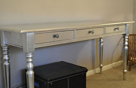 Home Dzine How To Add Silver Leaf To Gild Furniture