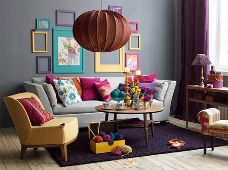Decorate With Grey Yellow Purple