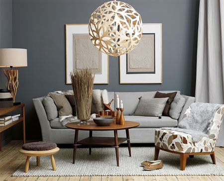 Grey Or Beige Walls Decorate With White Brown Color Scheme And