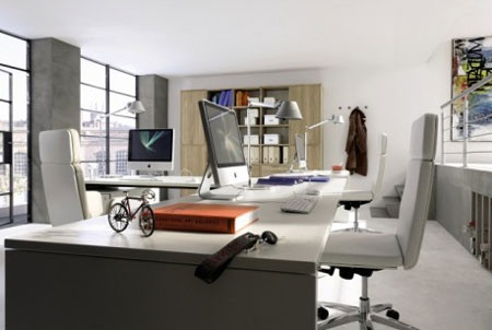 Wonderful Decorate With Grey Home Office