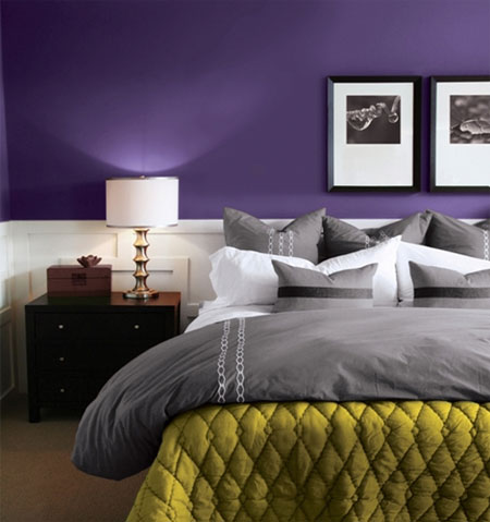 Deep Purple Wall Paint Home Dzine  Paint Your Home In Shades Of Purple