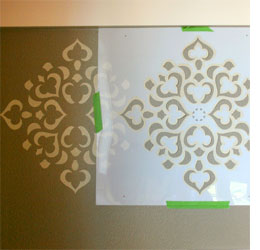 Home Dzine Create A Feature Wall With Stencils