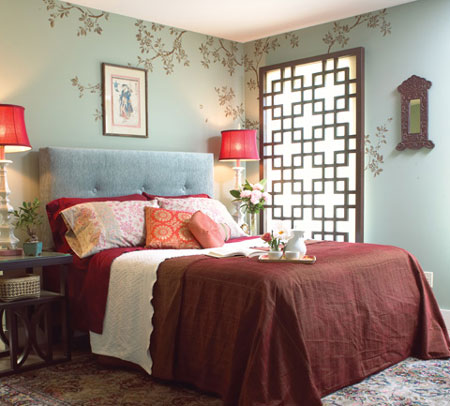 Bedroom Stencil Ideas. How to stencil a wall ideas HOME DZINE