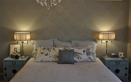 Home Dzine Damask Design In Metallic Paint