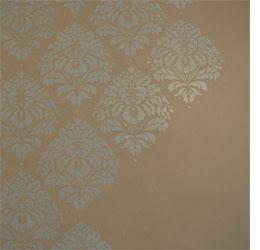 home dzine damask design in metallic paint