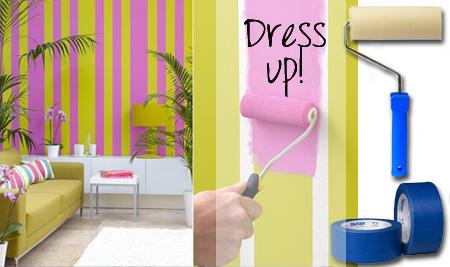 HOME DZINE | Decorating with stripes