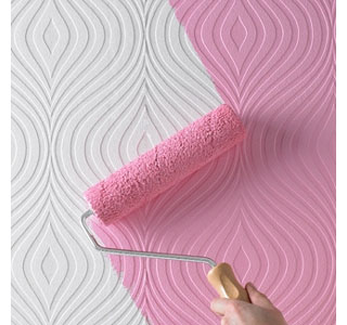HOME DZINE Easy wall texture with textured wallpaper