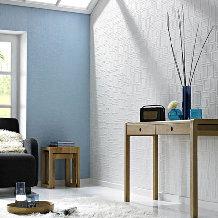 Wallpaper Dress Up Your Walls : HOME DZINE  Easy wall texture with textured wallpaper