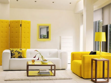 When Introducing Yellow Pieces, Try To Match The Vibe Of The Room   An  Upholstered Screen Against A White Bright Chair ...