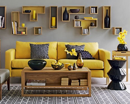 Home dzine decorating with yellow - Home accessories yellow ...