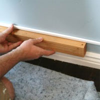 Clever way to add decorative skirtings