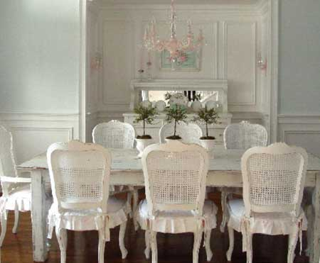 ABOVE: Romantic   Shabby Chic Style Is One Of The Hottest Decorating  Trends. Off White Furniture   Either Restored Or Reproduction   Is  Distressed To Give ...