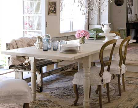 Home dzine home decor looking for ideas for a dining room - Salones estilo shabby chic ...